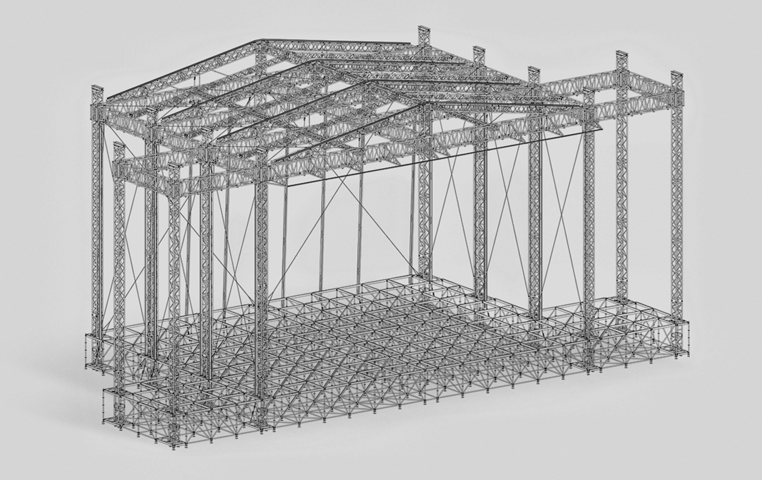 Stage system with the XXL roof