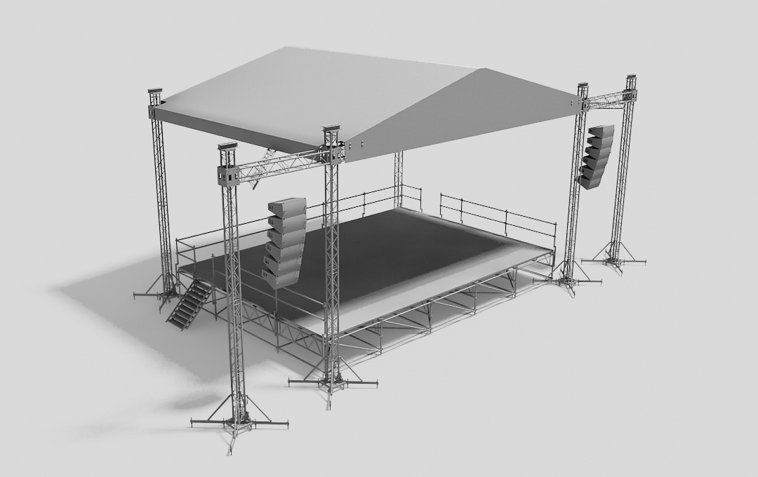 Stage system with the MPT roof