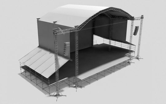 Stage system with the roof CURVED ST