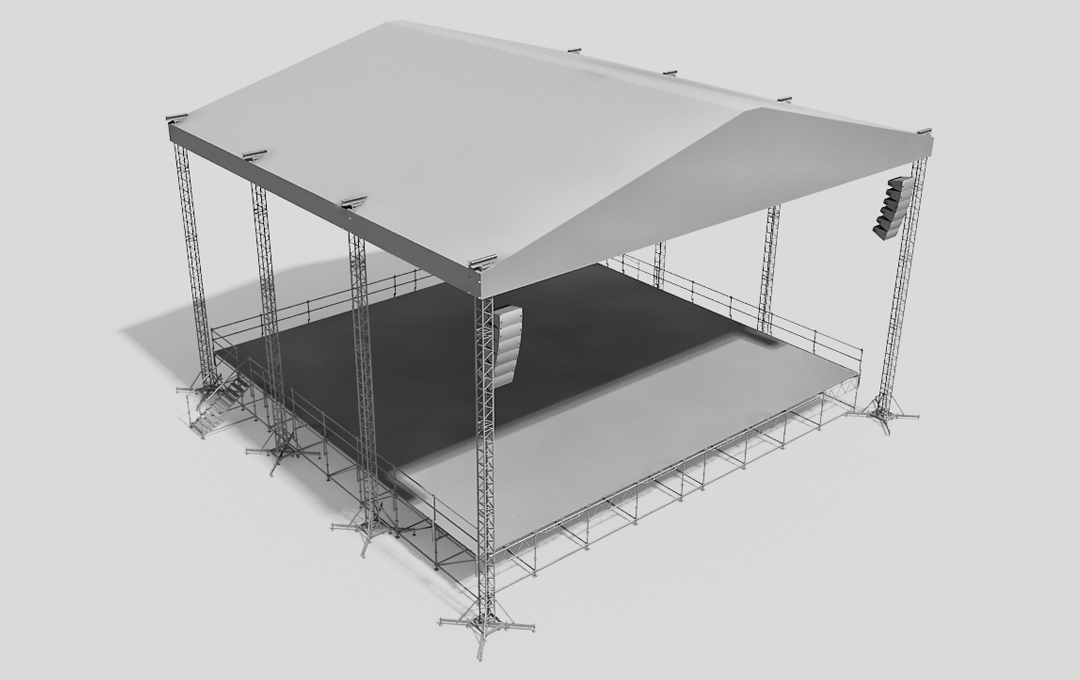 Stage system with the roof DEEP ST