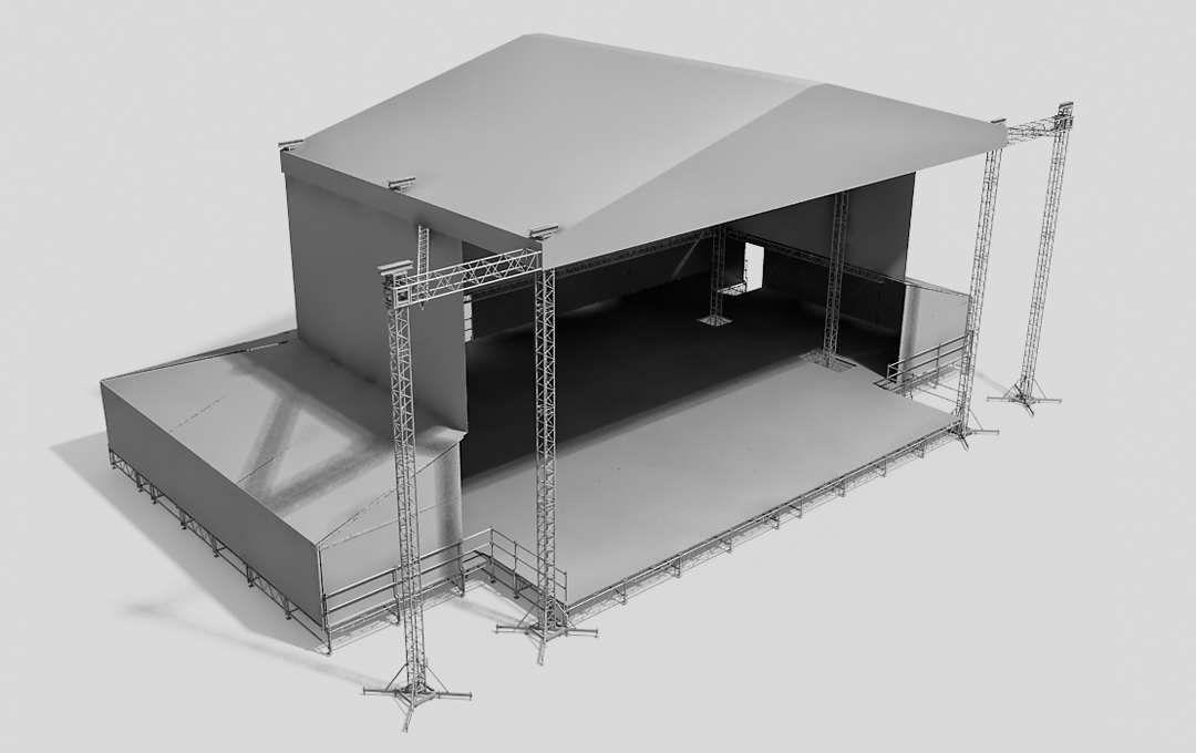 Stage system with the roof EXPANDED ST