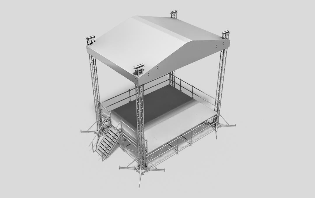 Stage system with the roof MINI MPT