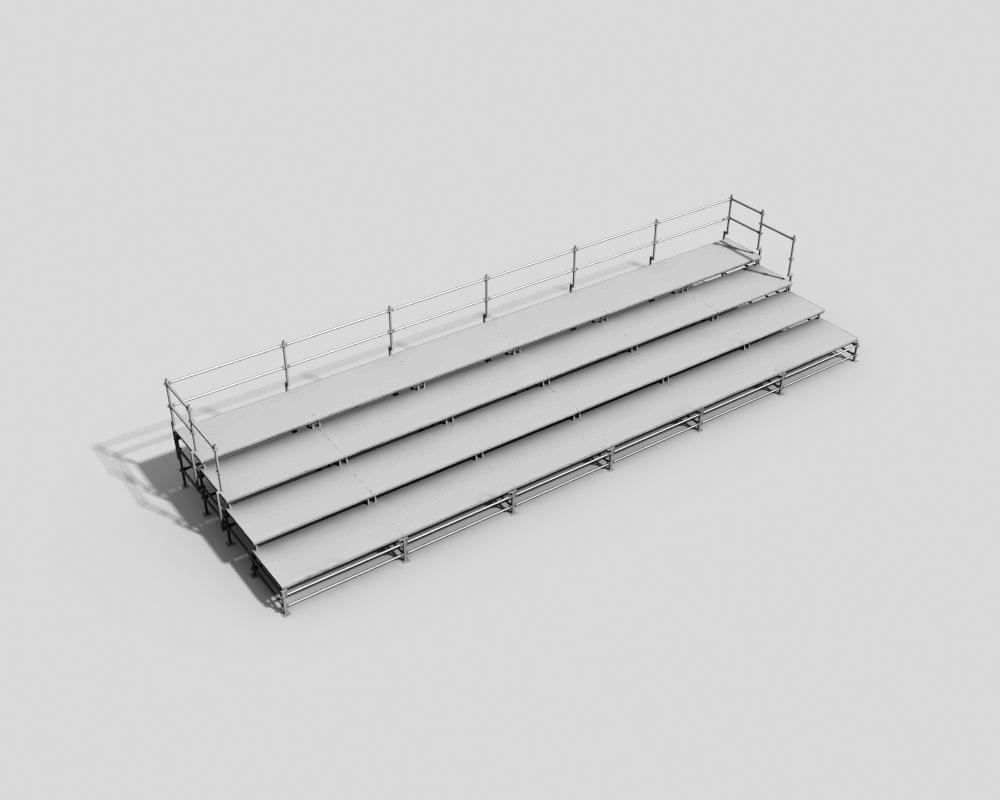 Four-level spectator platform