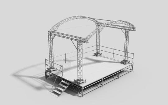 Scenos sistema su ARC ROOF stogu